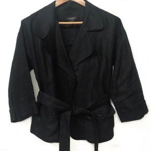Irish Linen Black Jacket